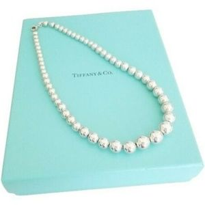 Tiffany & Co Sterling Silver Bead Ball Necklace